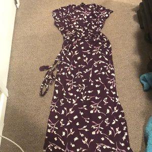 Lucky brand faux wrap maxi dress